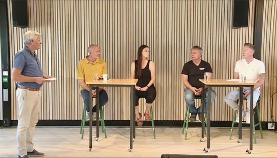 Fra venstre, Jan Gunnar Skoftedalen, Haakon Holmberg, Linda Wüsthoff, Arild Knutsen og Anders Dalsaune Jansen