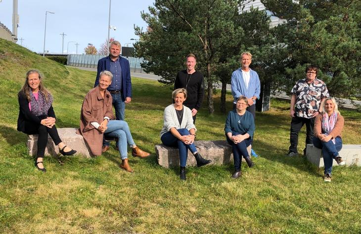 Styret i Fagrådet sammen med leder Jan Gunnar Skoftedalen. Frode Woldsund var ikke til stede da bildet ble tatt.