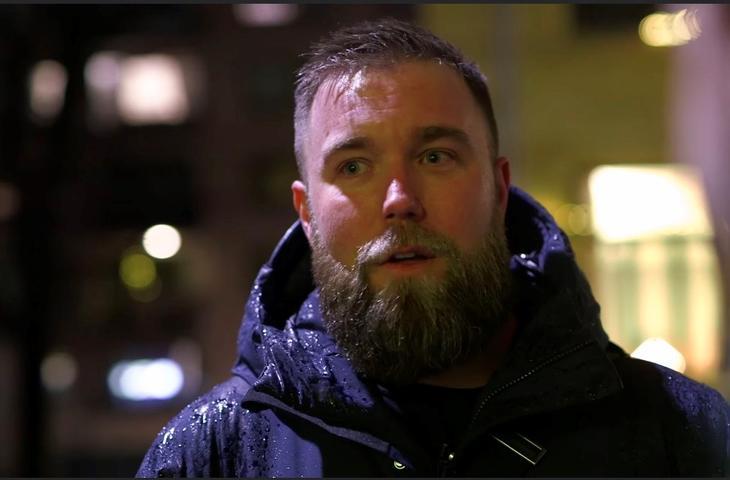 Marius Sjømæling, generalsekretær i Barn av Rusmisbrukere (Skjermdump fra filmtrailer)