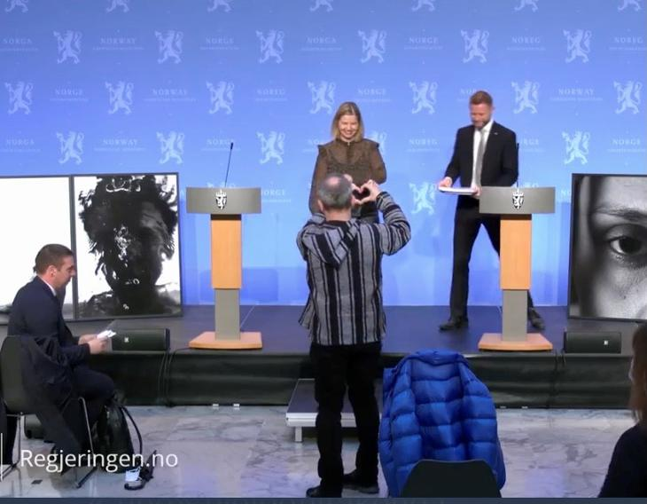 Fra regjeringens pressekonferanse om rusreformen.