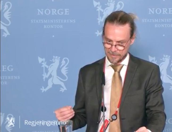 """Skjermdump fra Peder Kjøs sin presentasjon av rapporten """"Livskvalitet, psykisk helse og rusmiddelbruk under Covid-19-pandemien""""."""
