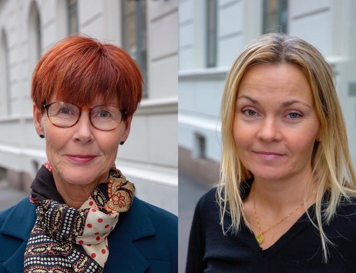 Hilde Rikter-Svendsen og Camilla Bakkeng i Akan.