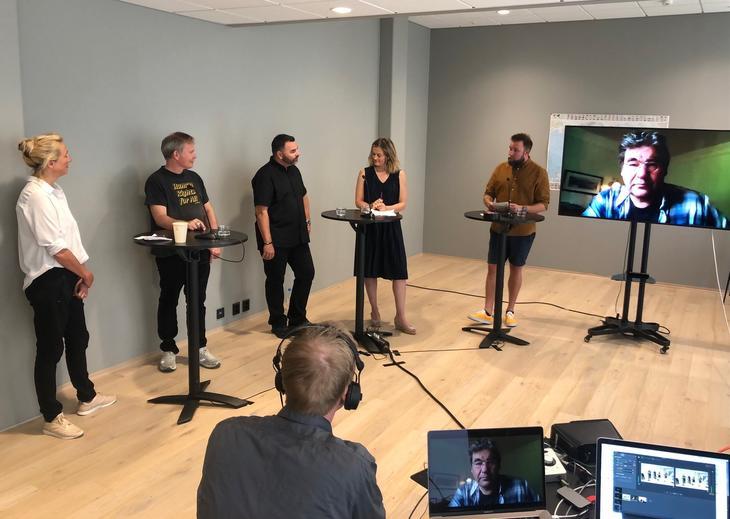 Webinaret Uønsket overalt! Fra venstre Synne Bernhardt, Arild Knutsen, Joar Kaasa, Adele Matheson Mestad, Marius Sjømæling og Paul Larsson.