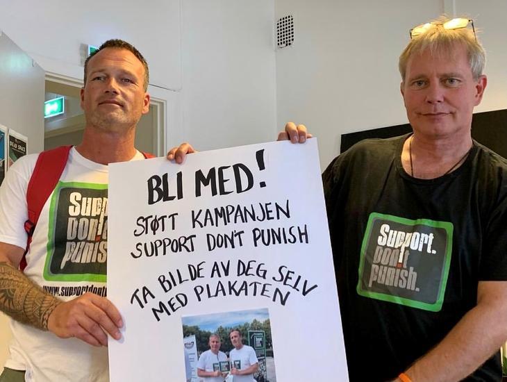 Ronny Bjørnestad, leder av proLAR Nett sammen med Arild Knutsen, leder av FHN.