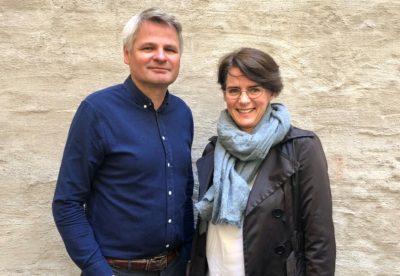Leder i Fagrådet Jan Gunnar Skoftedalen og leder av CREMAH Karette A. Stensæth
