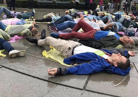 Overdosemarkering foran Stortinget 2017