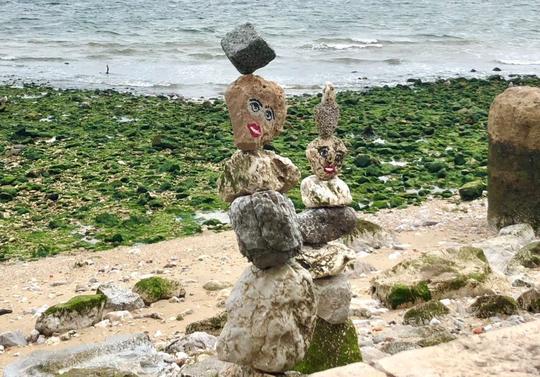 Strandkunst i Lisboa