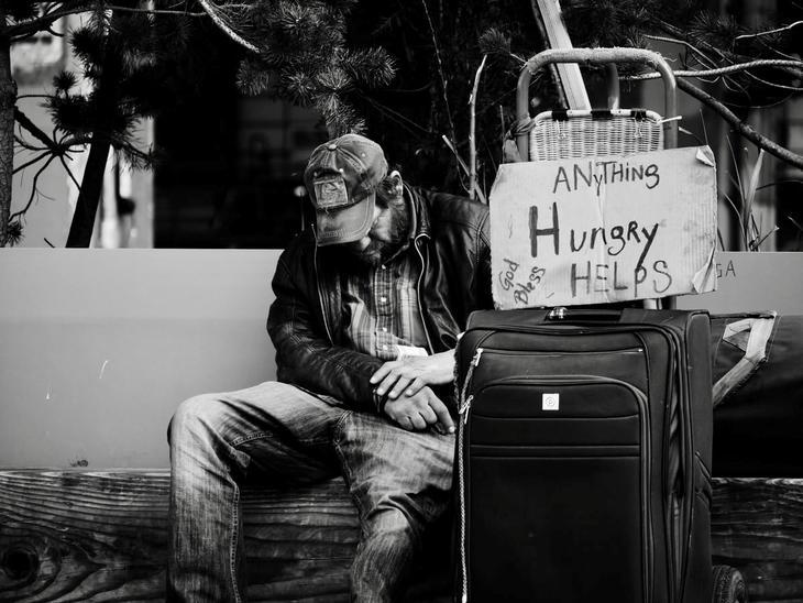Hjemløs foto Steve Knutson